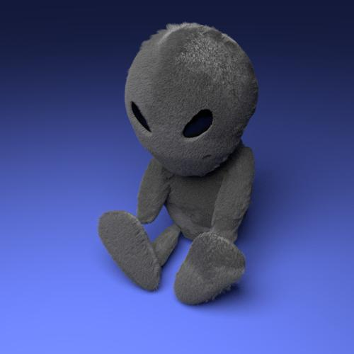Fluffy Plush Alien preview image