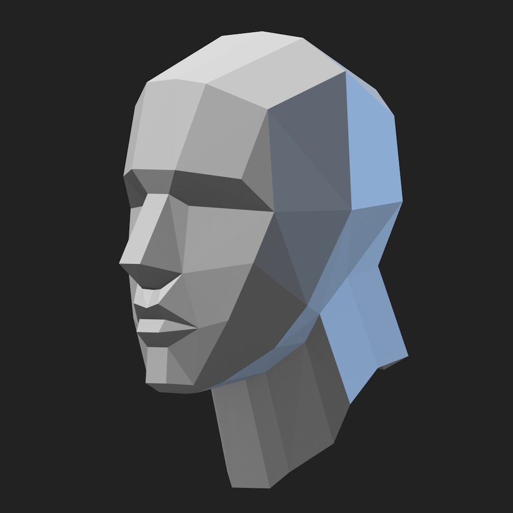 Basic head mesh preview image 1