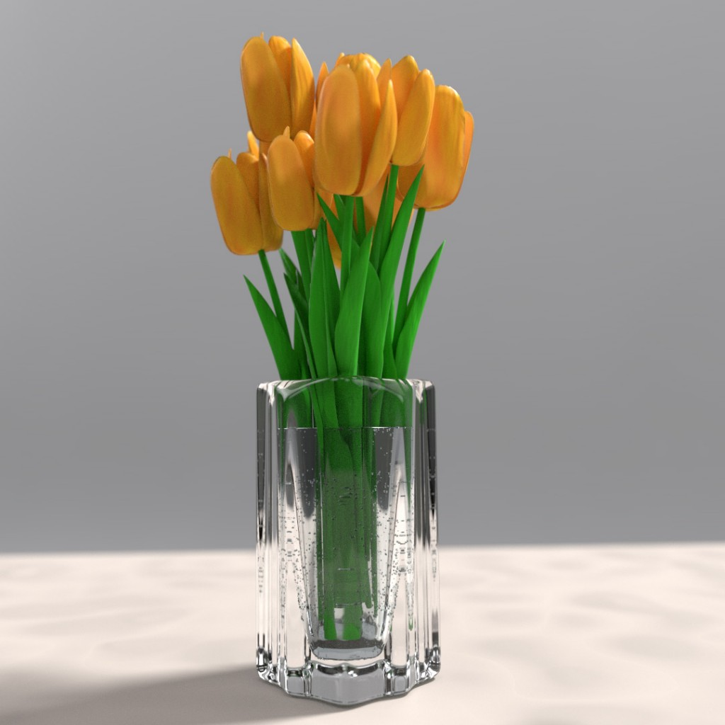Tulips in vase preview image 1