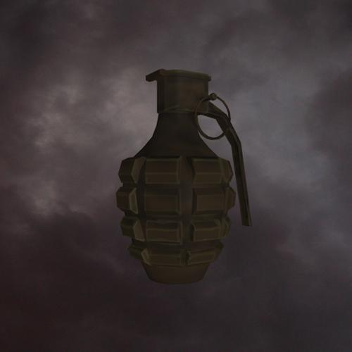 Low-poly Grenade for the BGE preview image