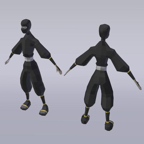 Ninja Low Poly preview image