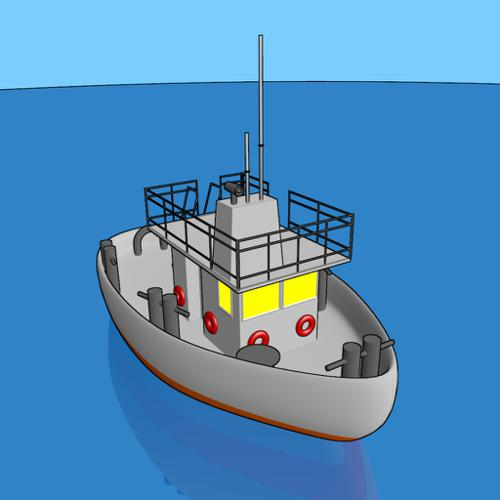 Cartoon Boat preview image