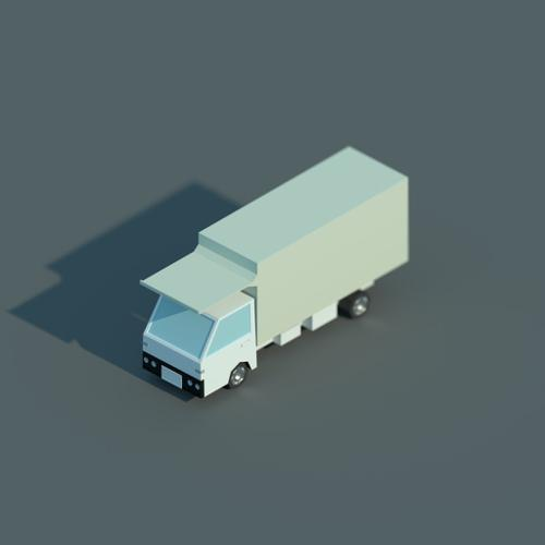 Low Poly Isometric Truck preview image