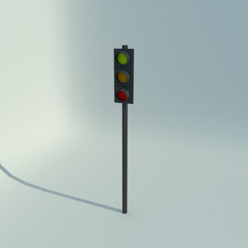 Low Poly Traffic Light preview image