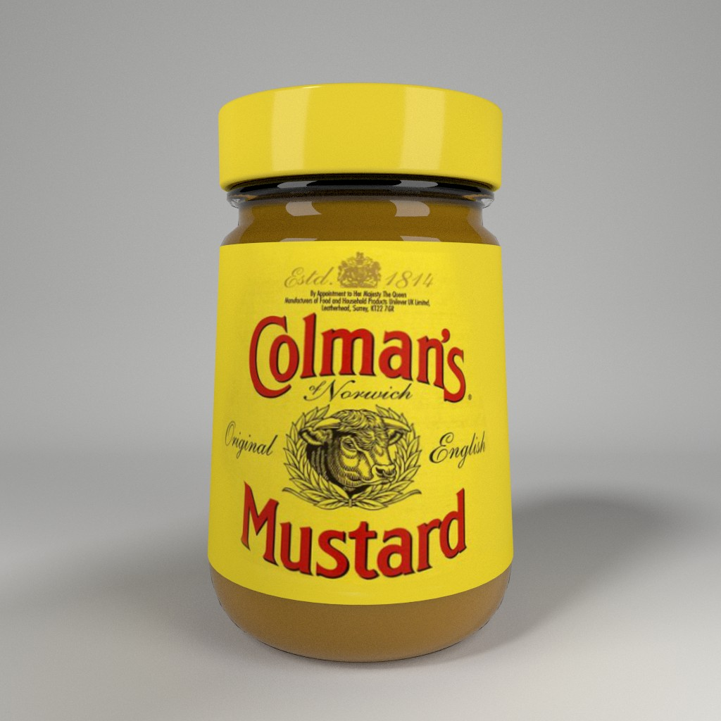 Colman's English mustard jar preview image 1