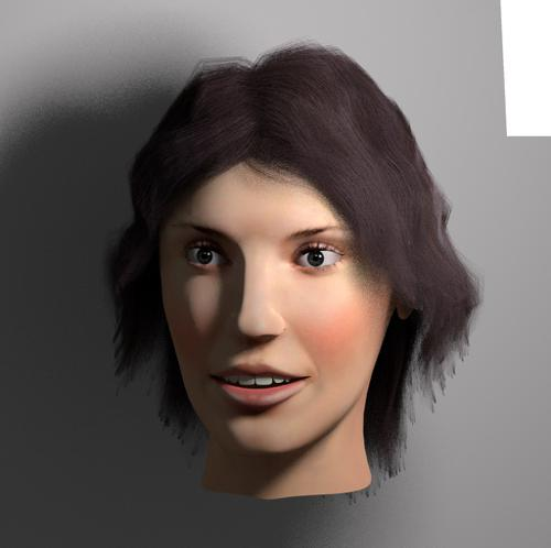 Woman head preview image