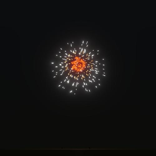Blender logo fire works preview image