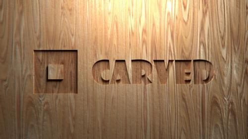 Text Carved out from a Wooden Plank preview image