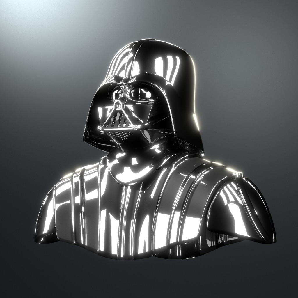Darth Vader Helmet and Shoulders [High Poly] preview image 1