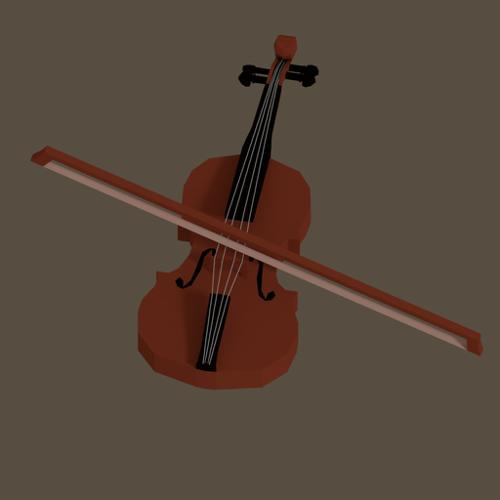 Low Poly Violin preview image