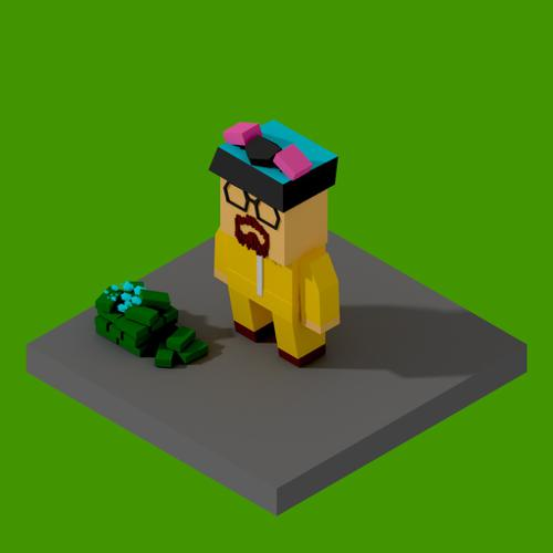 Low poly Walter White preview image