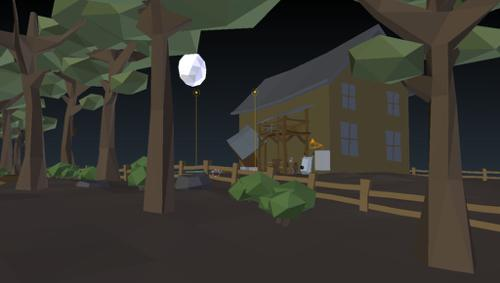 Abandoned Place Low Poly Scene preview image