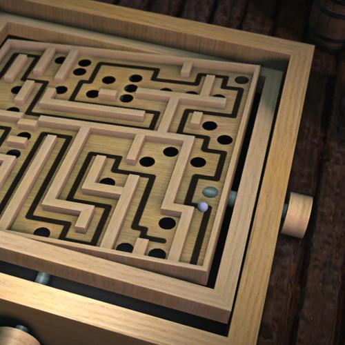 Wooden Labyrinth (blender game) preview image