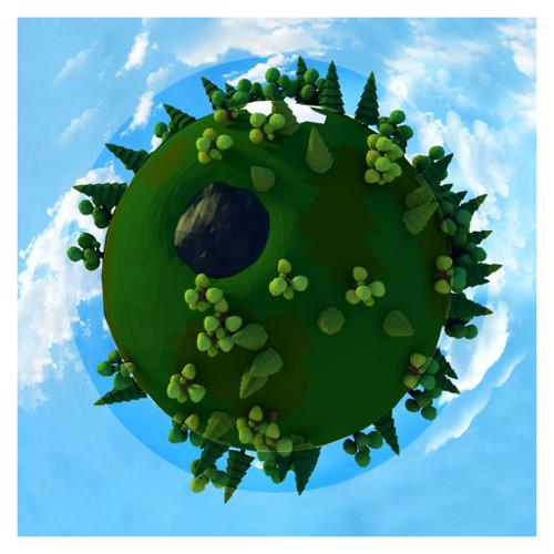 Round World Low Poly preview image