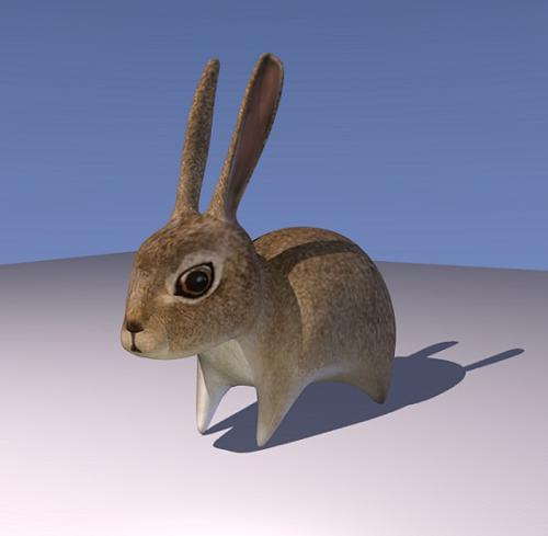 Low Poly Bunny Rabbit (Rigged) preview image