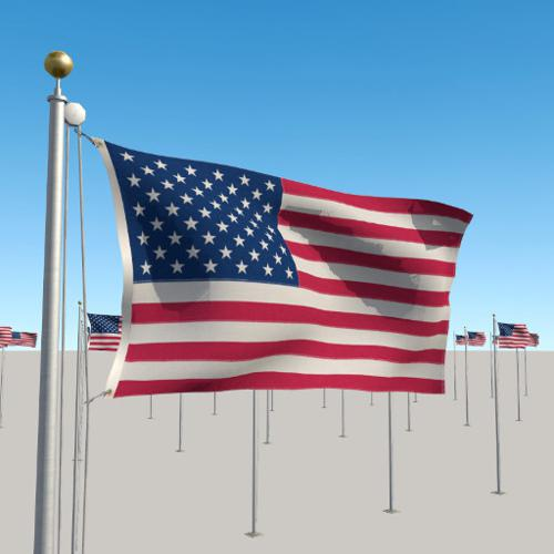 Flagpole with Seamless Looping Flag Animation preview image