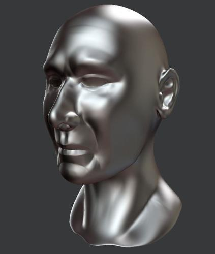 Human head sculpt preview image
