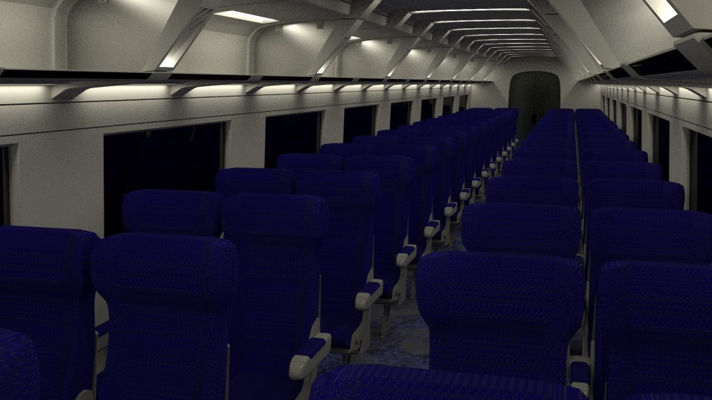 ICE2 Train carriage with interior and rigged doors preview image 2
