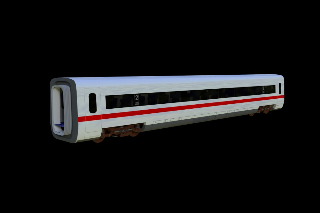 ICE2 Train carriage with interior and rigged doors preview image 1