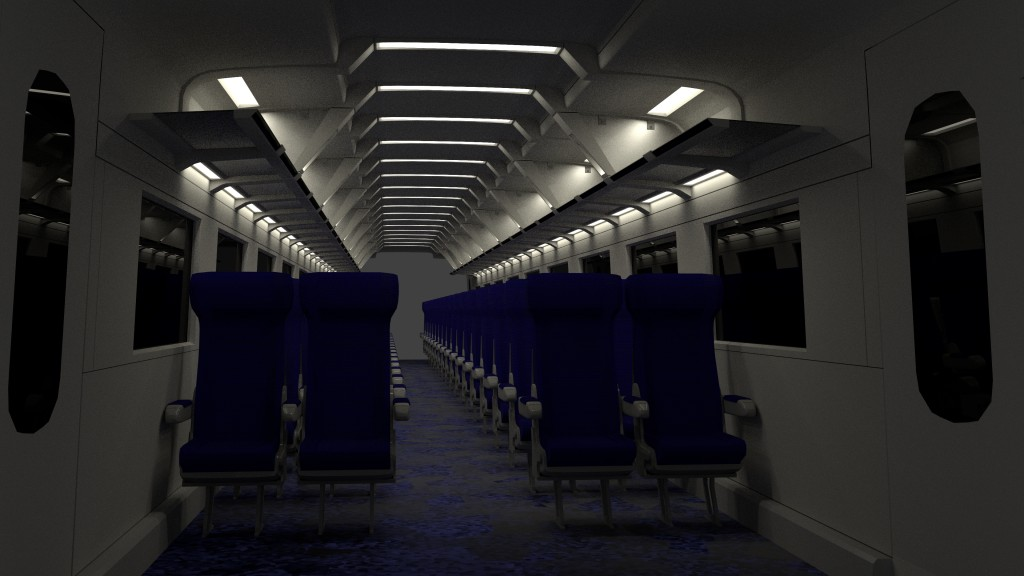ICE2 Train carriage with interior and rigged doors preview image 3
