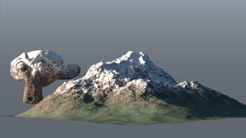Mountain shader preview image