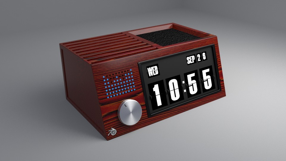 Flip clock retro (with speaker) preview image 1