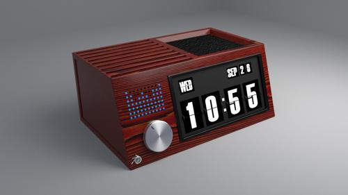 Flip clock retro (with speaker) preview image