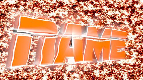 Cool Orange Text Template preview image