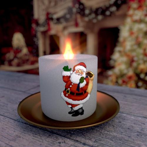 Santa Claus Christmas Candle preview image