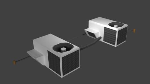 Low poly roof top air conditioner preview image