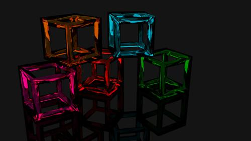 Cubes. a 16:9 computer background  preview image