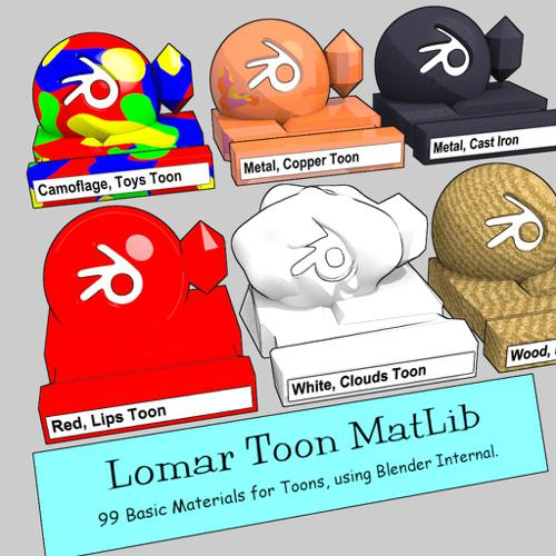 Lomar Toon MatLib preview image
