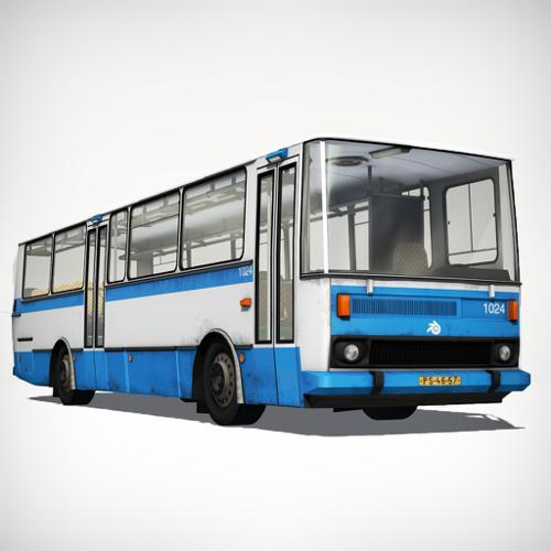 Colorable Bus (Rigged) preview image
