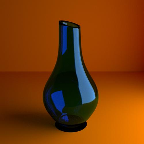 Blue colored glass vase preview image