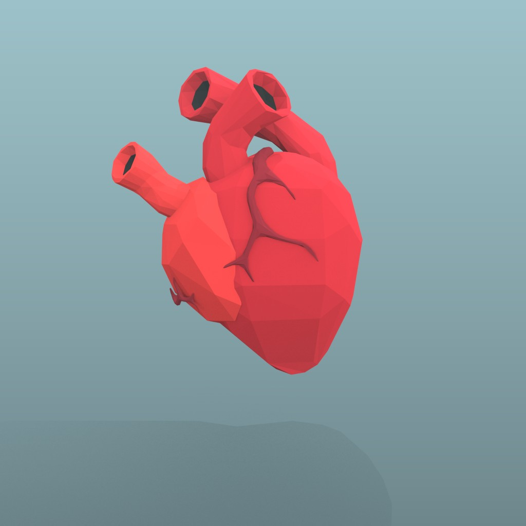 Low Poly Heart preview image 1
