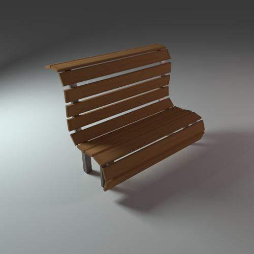 Low Poly Bench preview image