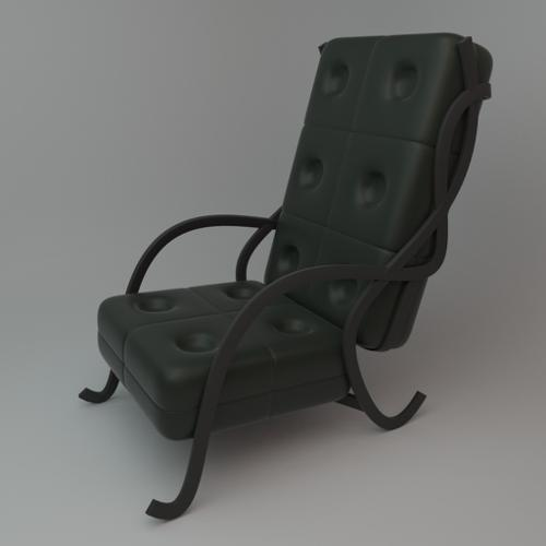 Cushion Chair With Metal Sides preview image