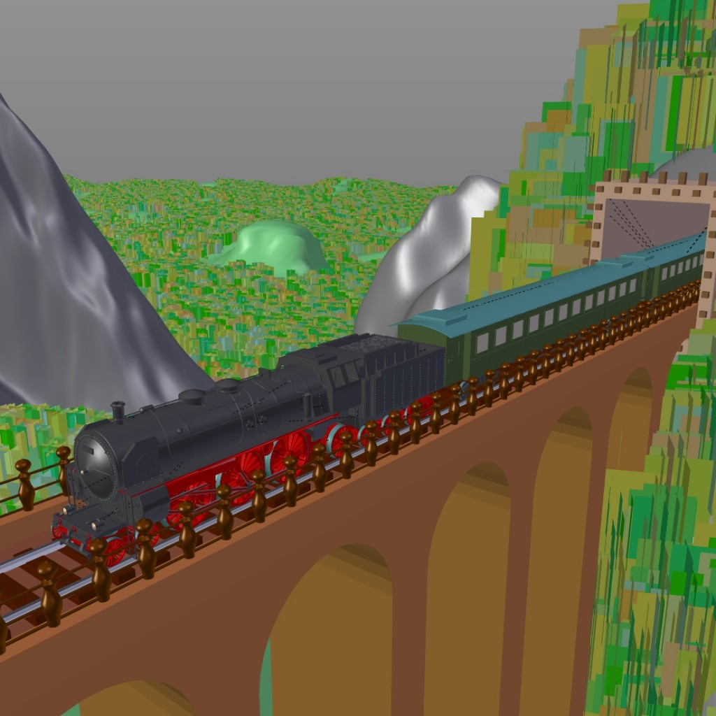 Landscape with train preview image 3