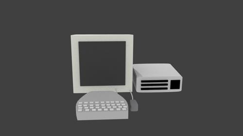 Simple low-poly computer preview image