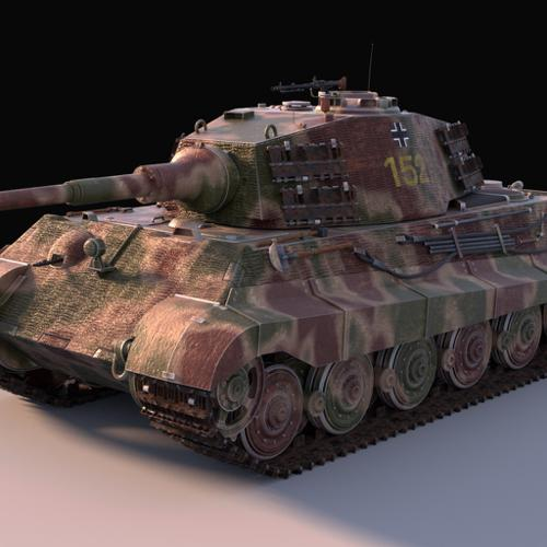 King Tiger heavy tank preview image