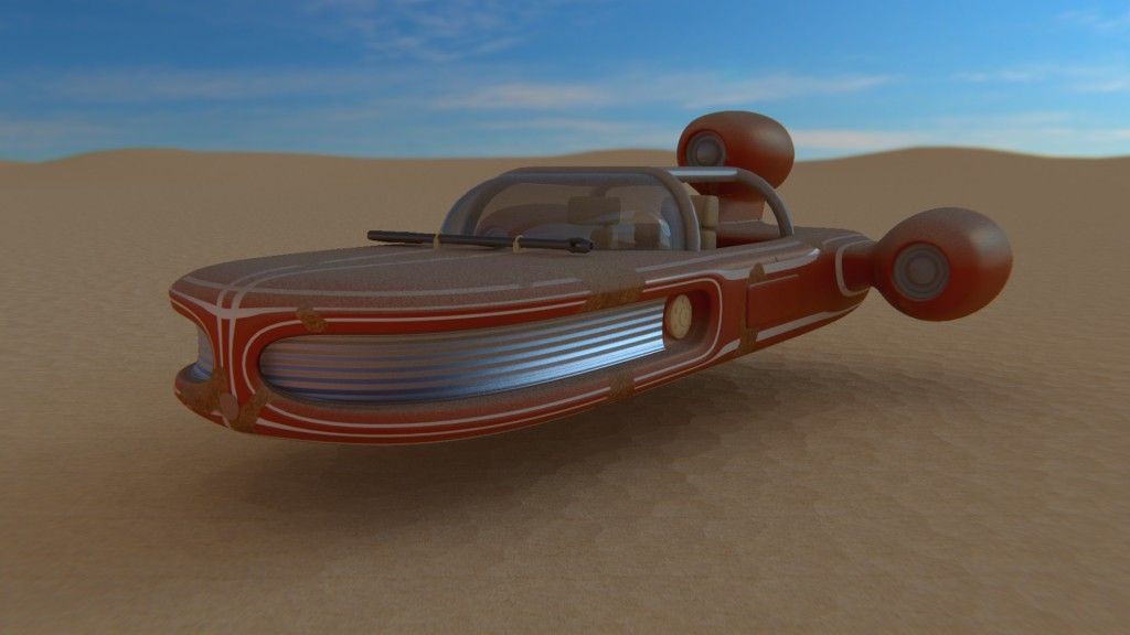 Star Wars-esque Landspeeder preview image 1