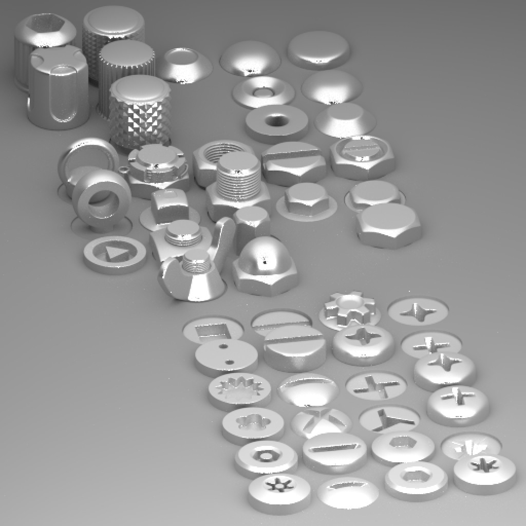 Collection of nuts, bolts, rivets, screws, knobs preview image 2