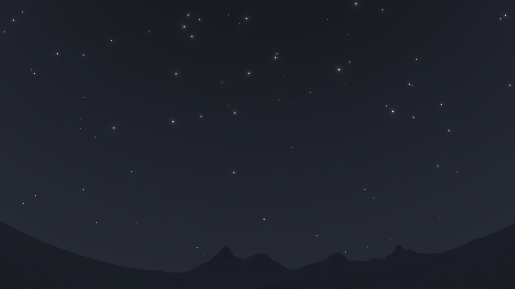 procedural night sky with stars preview image 2