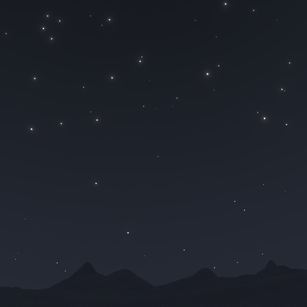 procedural night sky with stars preview image 1
