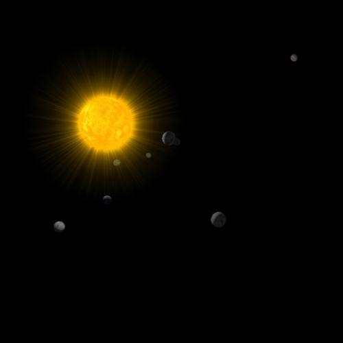 BGE Solar system - simple gravity simulation preview image