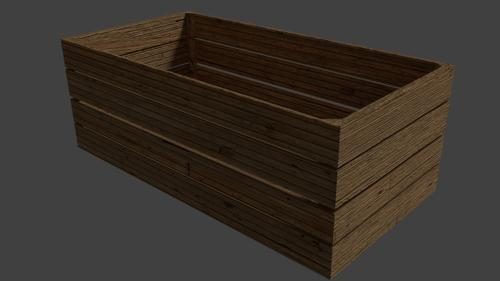 simple wooden box preview image