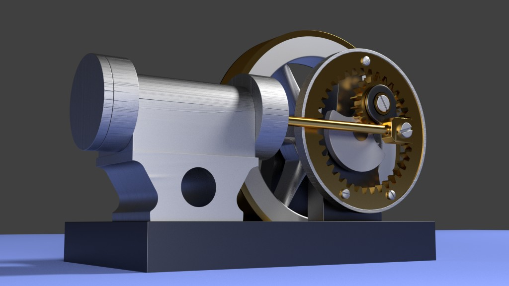 Geared Steam Engine preview image 2