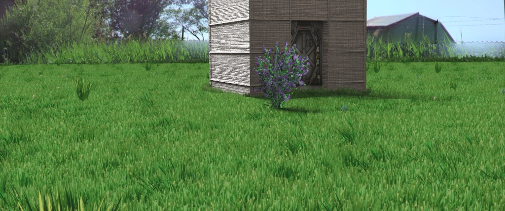 Fast rendered realistic grass in Blender internal preview image 1