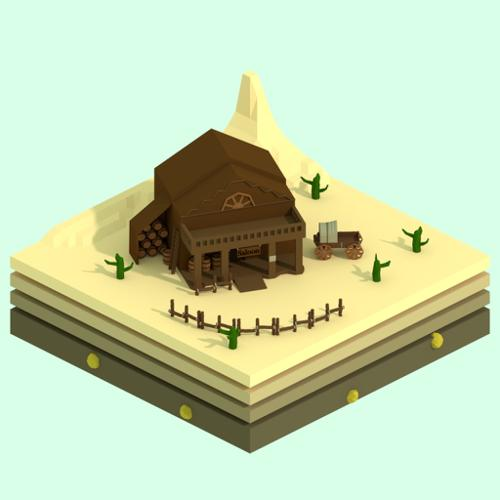 Western Low-Poly Isometric preview image
