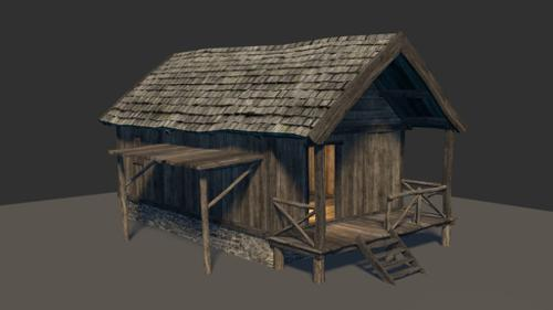 Hunters Cabin (Low Poly + LoD) preview image